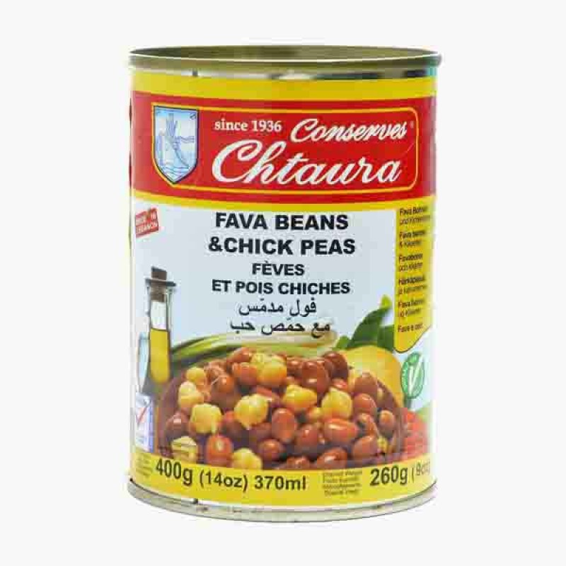 Chtoura Cooked Fava Beans With Chickpeas