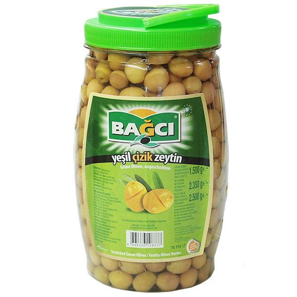 Bagci Green Olives Stuffed With Pepper 1500g