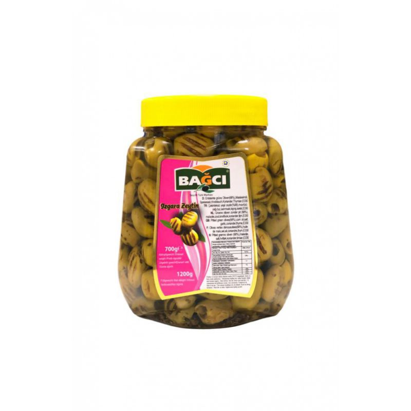 Bagcı Grilled Marinated Pitted Green Olives With Thyme & Coriander 700g