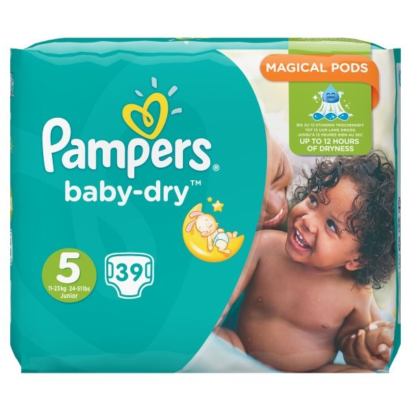 Pampers Baby Dry Nappies Size 5