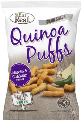 Eat Real Quinoa Corn Puff Jalapeno And Cheddar