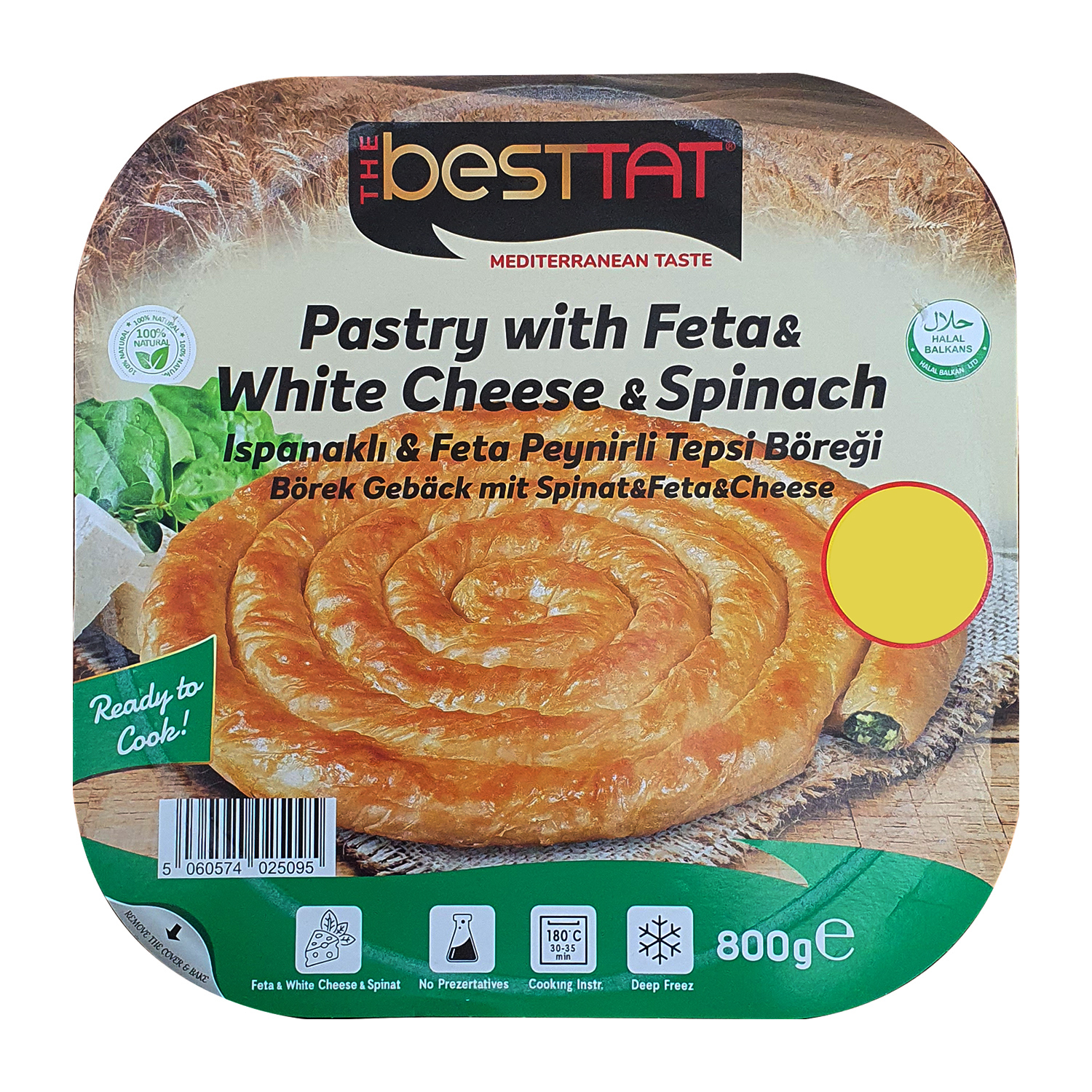 Besttat Spinach Feta Cheese Pastry