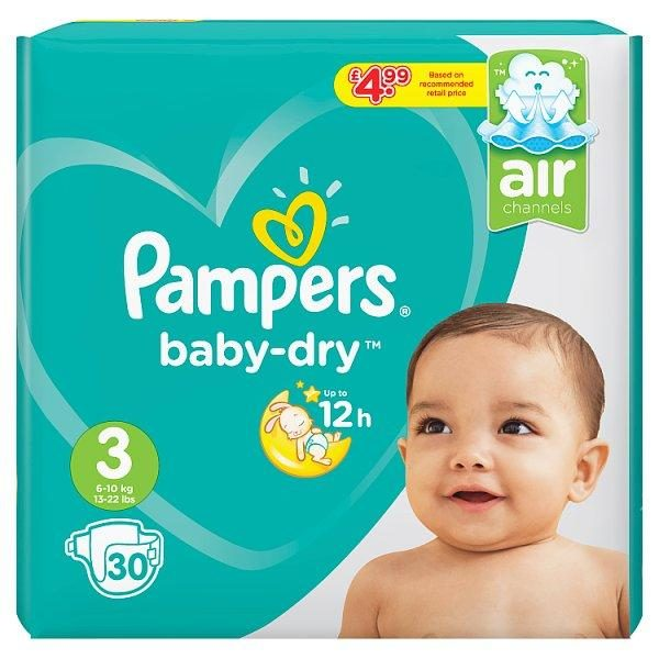 Pampers Babydry Nappies Size 3