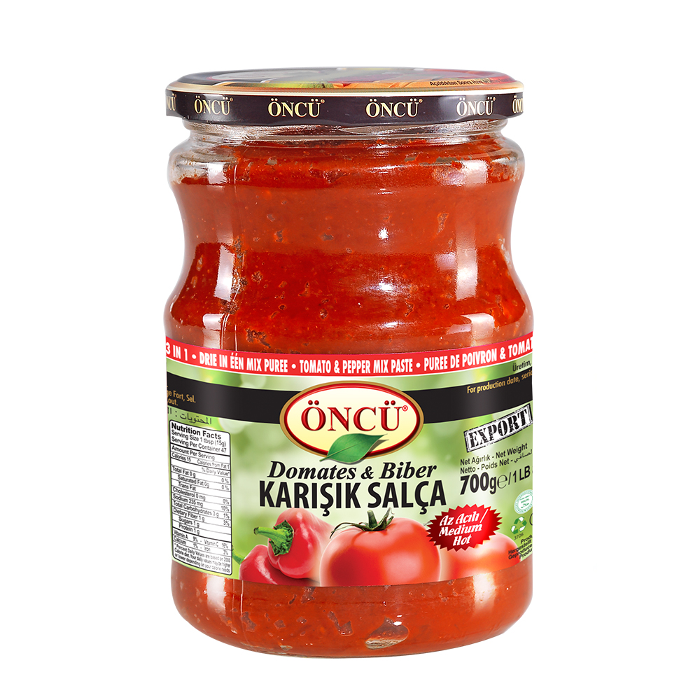 Oncu Tomato and Pepper Mixed Paste (3 In 1 Paste) 700g